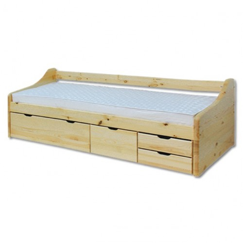 Łóżko sosnowe LK 131 Drewmax z szufladami