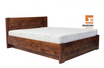 łóżko dębowe Boden Plus z pojemnikiem Ekodom logo