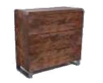 komoda 90x90x41 3 dębowa Ekodom